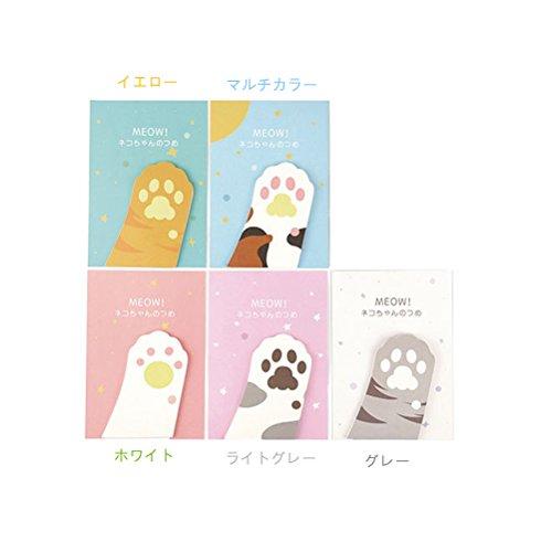 にじ・屋 ポストイット ノート 付箋 5冊1セット 可愛い 猫の肉球 貼り付け 剥がしやすい お祝い