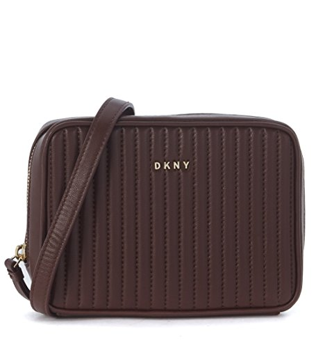 Borsa a tracolla DKNY in pelle rosso bordeaux