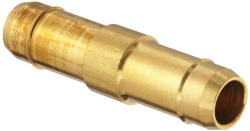 "Eaton Weatherhead 1062X6 Brass Ca360 Mini-Barb Brass Fitting, Union, 3/8"" Tube Od front-562678"