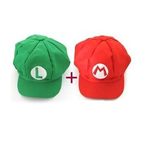 Super Mario role play Bros Hat Mario Luigi Cap Cosplay (Mario And Luigi Costumes Kids)