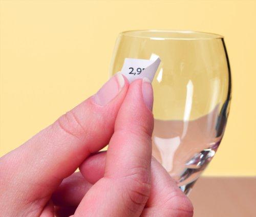AVERY - L7115REV-20 - 2040 étiquettes de prix adhésives blanches elevable. 26x16mm. Impression laser, jet d'encre
