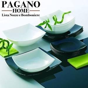 Best price luminarc quadro black white dinner set 18 - Servizio di piatti ikea ...