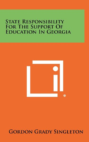State Responsibility for the Support of Education in Georgia