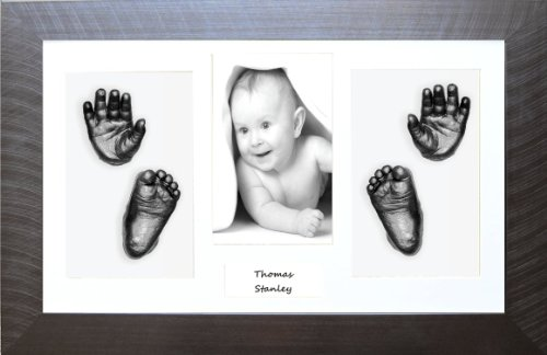 New Baby / Twins Hand and Foot Casting Kit with Pewter Box Frame
