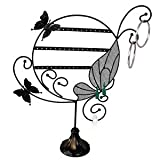 """Earring Display Stand- Butterfly - Black Metal Wire - 13"""" x 16"""""""