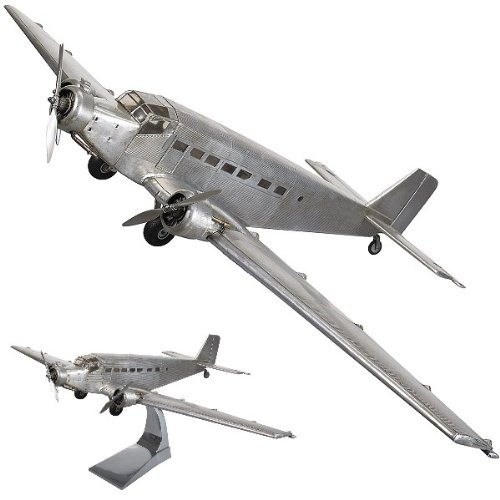 ProPassione Airplane Model Junkers JU52, detailed design, on stand, l 67 x w 102 x h 26 cm