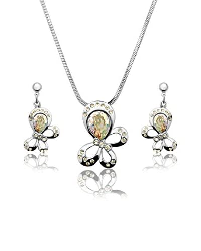 Passion Obscure Conjunto de cadena, colgante y pendientes Little Butterflies