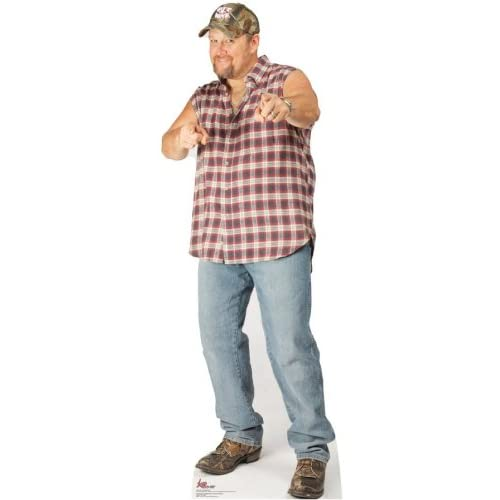 Larry The Cable guy Pointing 72x26 Cardboard Cutout Life-Sized Standup