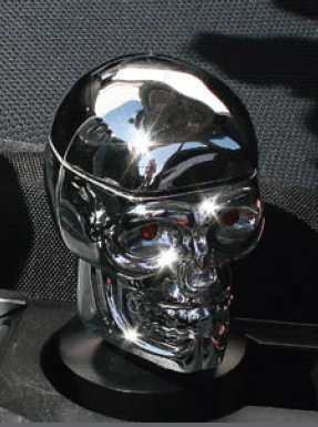 Pilot Automotive IP-153C Skull Ashtray Chrome with Cup Holder Base