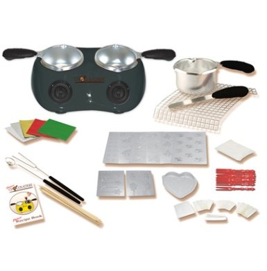 Deluxe Chocolatiere White Dual Electric Chocolate Melting Pot (Black)