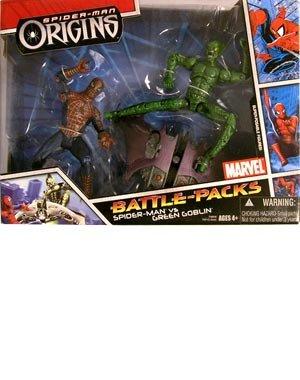 Buy Low Price Hasbro Spider-Man Origins: Battle-Packs Spider-Man vs. Green Goblin (Variant) Action Figure 2-Pack (B003XW8OM8)