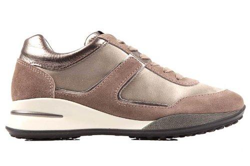 Hogan scarpe sneakers donna in camoscio elective