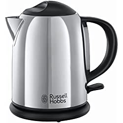 Russell Hobbs 20190-70 Bollitore Compatto, Selezione Della Quantità di Acqua da Scaldare, Rapida Ebollizione, Risparmio Energetico, 2200W, Acciaio Lucido