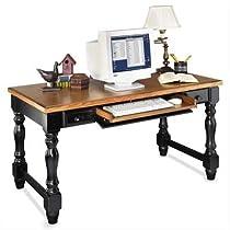 Hot Sale Kathy Ireland Home by Martin Southampton Onyx Writing Table, Black/Oak