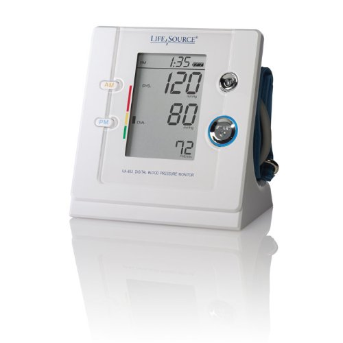 Image of Premium Upper Arm Blood Pressure Monitor with AM/PM Tracking (B00A14F2F8)