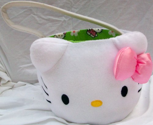 Hello Kitty Plush Halloween Easter Basket Toy