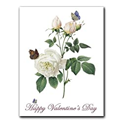 Rosa Indica - Valentine's Day Gift Enclosure Cards (set of 12)