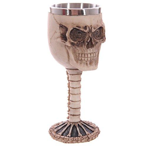 CNMKLM Crâne gobelet Cups et réservoir interne en acier inoxydable cadeaux Halloween Party Barware Creative , Personnalisé 9*9*21cm