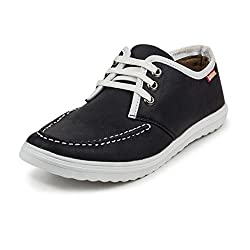 PAN Mens G17 BLACK Fabric Casual Shoe-7 UK