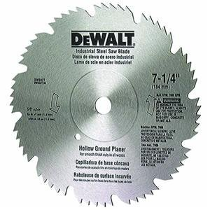 DEWALT DW3327 7-1/4-Inch 60 Tooth Hollow Ground Planer Steel Saw Blade with 5/8-Inch and Diamond Knockout Arbor