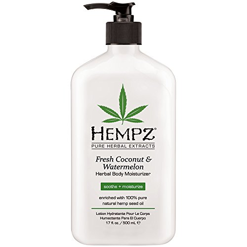 Hempz Herbal Body Moisturizer, Fresh Coconut and Watermelon, 17 Ounce