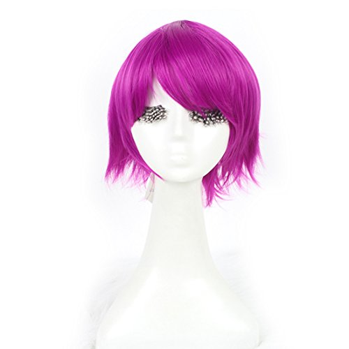 [L-email Womens Short Anne Straight Cosplay Wig Rose Red] (League Of Legends Annie Cosplay Costume)