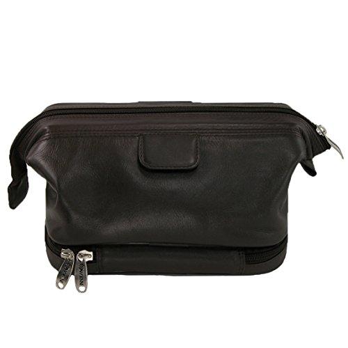 Winn-Harness-Leather-Travel-Kit-wWet-Pocket-Black-Brown