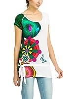 Desigual - T-shirt - Col bateau - Manches courtes Femme