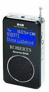 Roberts Sports DAB/FM RDS Personal Digital Radio with Loudspeaker - Black