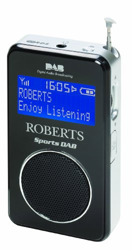 Roberts Sports DAB/FM RDS Personal Digital Radio with Loudspeaker - Black