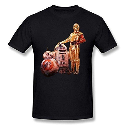 Men's C 3PO, R2 D2 & BB 8 Star Wars: The Force Awakens T-shirtYILIAX09933XLarge