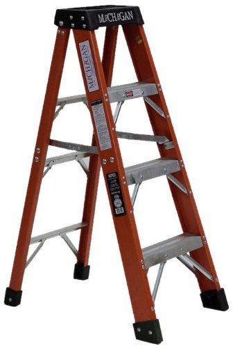 Michigan Ladder 3720-04 375 Pound Duty Rating Type 1AA Fiberglass Stepladder, 4-Foot