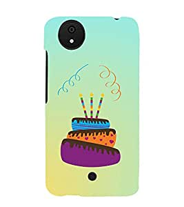 Happy Birthday Cake 3D Hard Polycarbonate Designer Back Case Cover for Micromax Canvas Android A1 AQ4501 :: Micromax Canvas Android A1