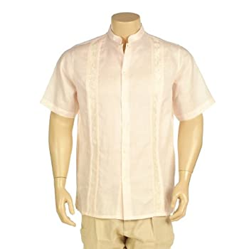Embroidered linen shirt short sleeve. Final sale!