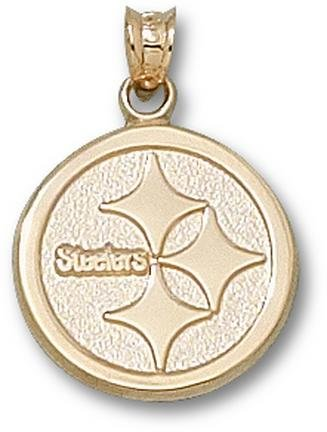 Gold Plated PITTSBURGH STEELERS LOGO 5/8