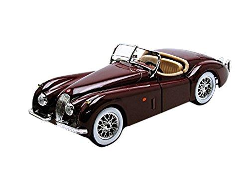 bburago-22018r-modellino-auto-1951-jaguar-xk-120-roadster-rosso-marrone-scala-124