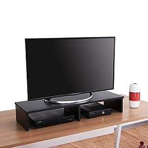 Amazon.com: Fitueyes Wooden Computer Monitor Riser dual