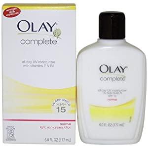 Olay Complete Normal All Day UV Moisture Cream SPF 15 6.0 FL OZ