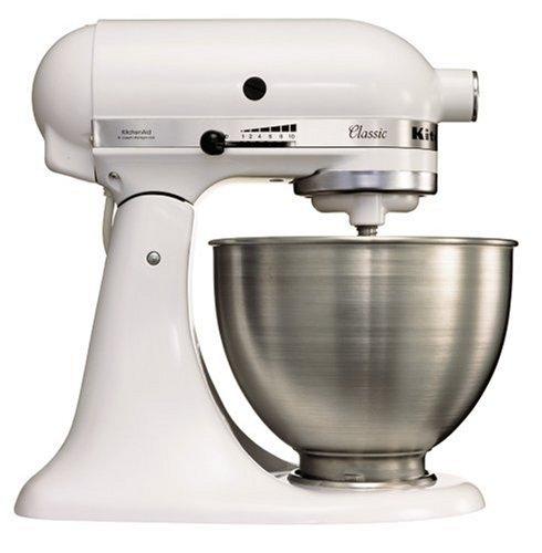 KitchenAid K45SS Classic Stand Mixer, White