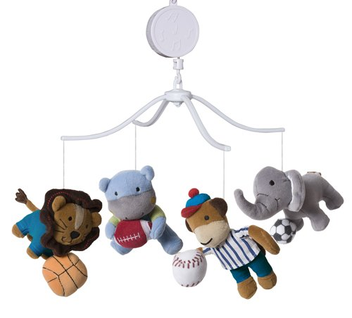 Bedtime Originals Teammates Musical Mobile (Discontinued By Manufacturer) front-985000