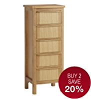 Chloe 5-Drawer Tallboy