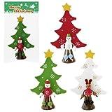 【クリスマス景品】クリスマスフレンズウッドツリー(12個)  / お楽しみグッズ(紙風船)付きセット