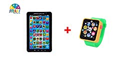 Smiles Creation Combo Of P1000 Educational Learning Tablet And Musical Smart watch