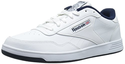 Reebok Men's Club Memt Fashion Sneaker, White/Collegiate Navy, 12 M US (Reebok Leather Classic compare prices)