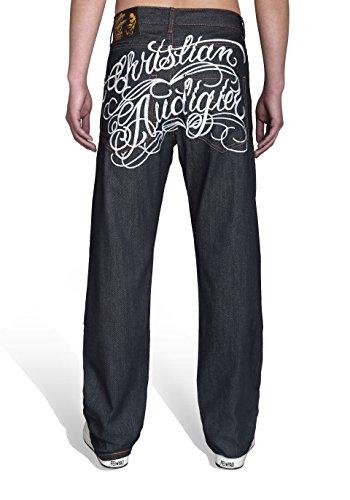 Pizoff Herren Hip Hop Baggy Jeans Denim (32, T010)