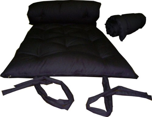 Brand New Black Traditional Japanese Floor Futon Mattresses, Foldable Cushion Mats, Yoga, Meditaion.