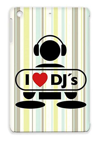 Love Dj F2 Durable For Ipad Mini Music Note Talent Scratching Music Mic Mc Rap Party Vinyls Vinyl Record Hip Hop Heart Old School Breakdance Graffiti Disco Miscellaneous Battle Dj Headphones Freestyle Beat Tpu Red Cover Case