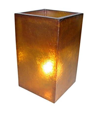 Jeffan Labota 2-Light Square 23.5 Planter/Lamp, Orange