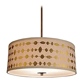 modern drum shade pendant light in bronze finish ceiling. Black Bedroom Furniture Sets. Home Design Ideas
