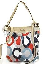 Coach 23930 Ashley Op Art Print Hippie Cross-body Handbag